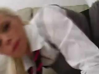Gorgeous Delta White hottest schoolgirl lollypop play!
