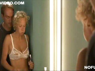 Katja Riemann In White & Sexy Lingerie