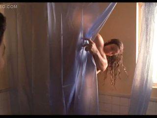 Sexy Movie Star Gabrielle Anwar Naked Under The Shower - Hot Sex Scene