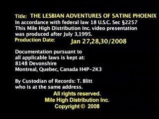 Lesbian Adventures of Satine Phoenix part 1