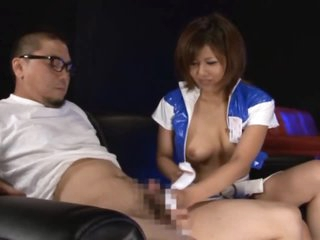 Gorgeous Asian Gets a Mouthful Of Cum