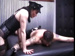 Dominatrix Beating Tractable Man's Ass