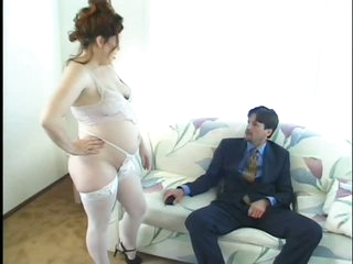 Preggy Hooker Swallows A Creamy Load
