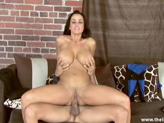 Arousing Lisa Ann rides this dick up her juicy muff
