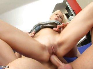 Super slut Lisa slams her tight ass on a hard cock and enjoys it