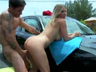 Rampant Devon Lee gets drilled up her flange flaps