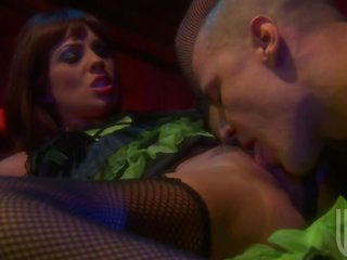 Kirsten Price Sucks On a Big Shlong After Getting Cum On Her Natural Tits