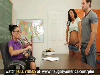 Jessica Jaymes and Tiffany Brookes Have Sexy Threesome With Guy