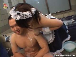 Horny Maid Teasing Her Boss With Her Melons
