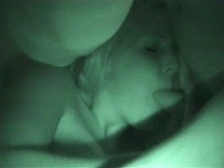 Blowjob caught on nightvision web camera