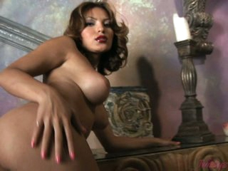 Sexy exotic Mari Possa gets too hot to handle naked lovely her warm snatch