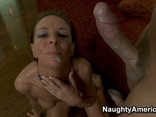 Super hot Sara Bricks acquires a warm load of cum shot in her mouth
