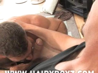 Bushy muscled Booty fucked. starring Bruno Bond and Charlie x