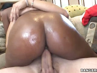 Black babes have astounding asses. Monique Symone is the one. Her juicy ass makes ivory guy's white dick rock hard. She takes it up her wet pussy. Monique Symone rides the guy and he keeps his hands on her pretty chocolate ass.