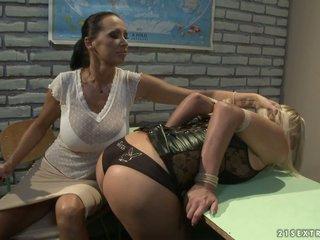 Mandy Bright and Tara Pink naughty teacher and student