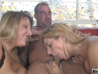 Lusty Kodi Gamble sucking a lucky chaps hardon deep in her slippery mouth