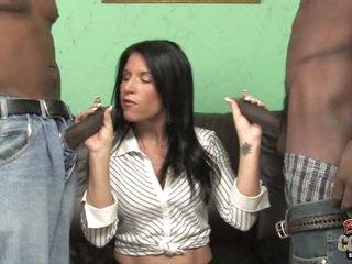 Kendra Secrets hot cougarl holding two darksome schlongs