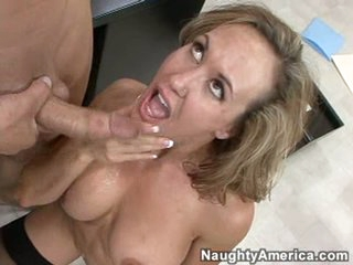 Sexy Brandi Love got rewarded guy jizz after a hot sensational fuck