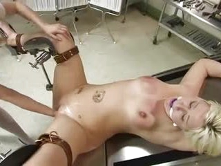 Lesbian fisting and pussy abuse in BDSM scene