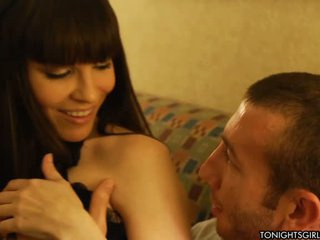 Dana Dearmond has a good time with her fan