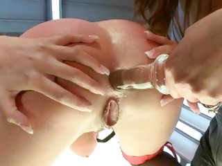 Anissa Kate gets her butt hole toyed by Francesca Le