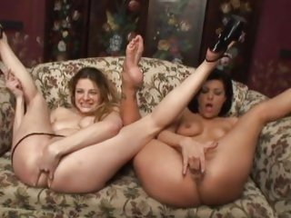 Jezebelle Bond and Nikki Nievez dildo dipping fun