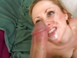 Sindee Jennings gets her face splattered with cum