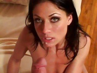 Saucy Dillan Lauren gets doused with hot jizz