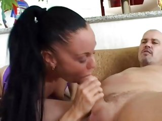 Judy Star shoves a hard dick down her slippery throat