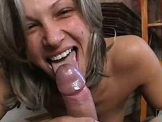 Caroline Cage Receives Bare And Takes A Large Hard Cock On Her Mouth