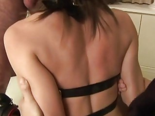 Tied slave hard bound sex and fuck