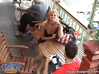 A blond foxy lady sets the pace and fucks with a stranger