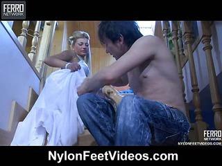 Cornelia&Rolf raunchy nylon footsex