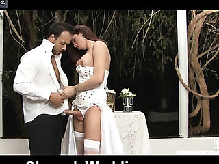 Mind Boggling body ladyboy bride readily ploughs a chap-cunt after a wedding ceremony