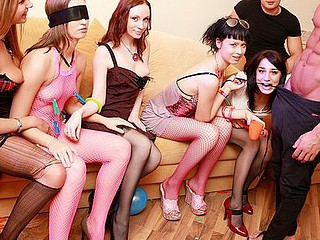 We had the entire weekend ahead, a huge apartment fully at our disposal, some kinky sex toys and a funny dress... Hmm, it sounds like a ideal combination for a wild sex party! Add lots of champagne and the luscious college beauties, and u'll...