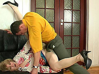 Lusty older housewife desirous for anything to satisfy her dong-hungry muff