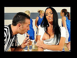 Ms. DeVille is the high school basketball trainer who wants her team to win more than anything. Unfortunately, the ref Keiran is calling a ton of fouls on her team. So this babe comes to a conclusion to distract the ref with her large mounds. When the last buzzer goes, Vanilla's team is victorious but Keiran is livid, and threatens to nullify the win coz Vanilla distracted him. Vanilla smartly convinces Keiran that that wouldn't be good for either of 'em, and calms him down by giving him her large beautiful boobs.