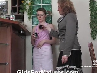 Clad in pink beauty involved into lesbo necking and wet crack eating by a mother i'd like to fuck
