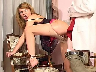 Romantic date with sexy sweetheart in barely visible hose turning into sheer fuck