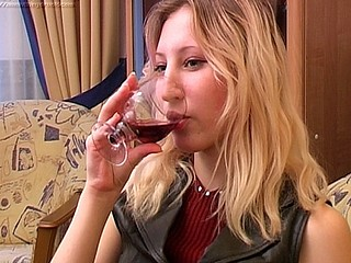 Stella looks damn fine in her leather dress and her sexy black nylons and as the scene starts this babe has her foot in Boris' lap and that babe's massaging his manhood. This Chab pours her a glass of wine and they start drinking glass after glass. Pretty Soon sufficiently the beautiful angel is drunk and when u get this blond beauty loaded this babe gets horny. This Babe takes off her dress and climbs into her fellow's lap to show him her affection and it won't be surprising to know that this chab gets hard as a result. That Guy body is stunning and that guy gets the chance to fuck the drunk slut as that guy sees fit