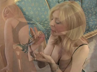 Porn legend Nina Hartley can't live without wearing fine underware during the time that showing off her illustrious oral cocksucking skills.  This Babe rides her fellow cowgirl, bouncing up and down his 10-Pounder and showing how a older woman can fuck.  This Babe then gets some anal action, taking his length all the way up her taut booty previous to taking his spunk fountain to her face, licking the cum off his shaft.