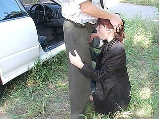 Redheads are not quite any vehement of all pick up chicks, have u heard about this? I have, but I can't just trust people out of assuring myself. So I thought it would be worthy to get some redhead angel picked up and find out how good this sweetheart was at sex. And filming that experience would be even more good. From all youthful pretty cuties I met this day I picked the one with bright red hair and paid her so that we could discharge outdoor sex movie scene somewhere in the forest. Sex in a public place is always more good than boring fucking at home on the couch. Well, what can I say... Redheads are really wild and sexy!