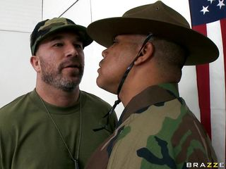 Look at those hot babes in military school helping each other and making out in their nice uniforms. Look at their hot bodies and their juicy lips. Do you think they will get some semen on those hot tits or a some cock in their asses?