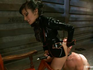 Beretta, a brunette mistress with a gorgeous ass is dominating her sex slave and destroys his self esteem with devilish pleasure. She has him down on his knees, making him crawl like a submissive slave and gives him her bubble butt for a hot rimjob. Watch her in all her glory, surely she has a lot more for him