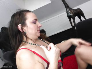 Watch these three horny ladies going crazy on the couch and making love together. Enjoy their wild lesbian love full of sweet kissing and licking clitoris. Watch them sucking love juices out of those shaved pussies and playing with each others asses. Let's see how long these women keep doing it!