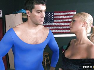 Being a athlete is a hard work and after all that training this guy needs to relax a bit with this gorgeous blonde that has big round firm tits and a very pretty face. Is she going to swallow his cock and then all his semen or is she going to take it in the ass begging for hot jizz?