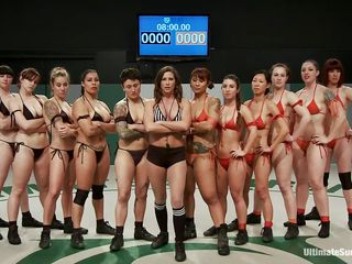 A lot of sluts and each of one wants to win! Well, it will be a very long and hard match but it worth seeing it. These bitches are hot and merciless, soon the game begins and things get intense. Should we start betting one who will win and what the losers will have to get through?