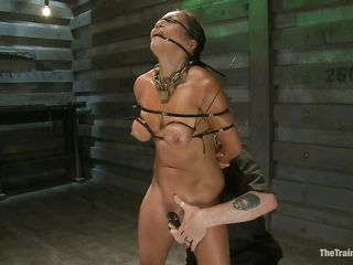 She is in for some really grueling training regime as he takes complete control of her body and makes her body go through different hardships to make sure she obeys abjectly without asking any questions or raising objection. He tied her and covered her face with cloth to tell her who is the boss.