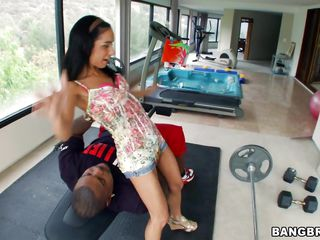 Tia is a cute Hispanic chick in need of a cock. The black dude has exactly what she's looking for, a huge black cock, long and thick perfect for ripping her tight cunt. Tia gives his penis a few lustful sucks and then he impales her with it. Yeah she's stuffed now, find out if she will be filled with jizz too