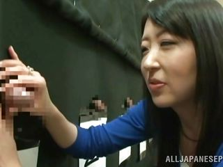 Mature Japanese milf tastes a cock or to before the main course. She is a normal lady but we know that hard cocks have some weird effects on normal Nippon ladies. Watch her and enjoy what happens with her mind and hot body, you may be surprise! Enjoy it!